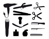 Friseurwerkzeuge Lizenzfreie Abbildung