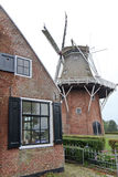 Frisian smock mill Zeldenrust in Dokkum, Holland Stock Images