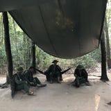 Frisinnat område i Cuchi som förhindrar invasionen av USA-soldater royaltyfri bild