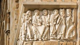 Friso da catedral de Lincoln Imagem de Stock