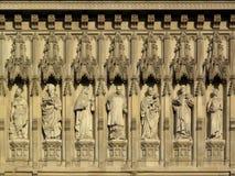 Friso de la abadía de Westminster de los mártires Fotos de archivo libres de regalías