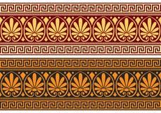 Friso del vector con el ornamento griego (meandro) libre illustration