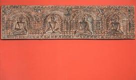 Friso que mostra deuses indianos Fotografia de Stock