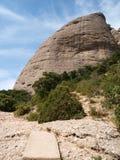 Fristående berg Arkivfoto