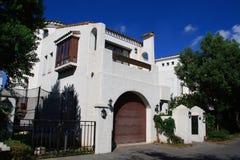 fristående villa Arkivfoto