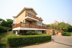 fristående villa Royaltyfri Fotografi
