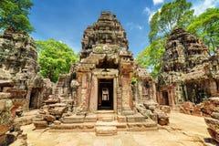 Fristad av den forntida Ta-Somtemplet, Angkor, Siem Reap, Cambodja Arkivbild