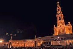 Fristad av Fatima, altare av den katolska världen royaltyfri bild