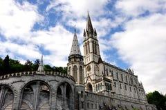 Fristad av Lourdes, Frankrike Arkivbilder