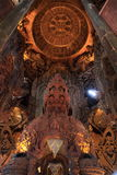 Fristad av sanning Prasat Satchatham i Pattaya Royaltyfria Bilder