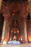 Fristad av sanning Prasat Satchatham i Pattaya Royaltyfri Bild