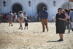 Fristad för El Rocio Andalucia fotografering för bildbyråer