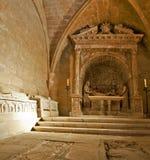 Fristad i kyrkan av den kungliga abbotskloster av Poblet royaltyfri bild