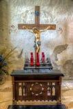 Fristad på beskickningen Concepcion, San Antonio, TX arkivbild