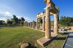 Fristaden av Artemis på Brauron, Attica - Grekland Fotografering för Bildbyråer