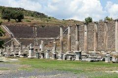 fristaden för semesterorten för asklepionpergamumperioden var den roman något brunnsortteatern att visa Pergamum Royaltyfria Foton