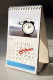 Fristenkalender Stockbilder