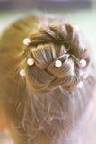 Frisur für ein Mädchen Lizenzfreies Stockbild