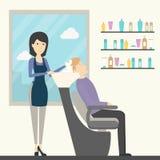 Frisur im Salon lizenzfreie abbildung