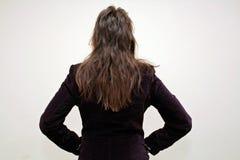 Frisur von hinten lizenzfreies stockfoto