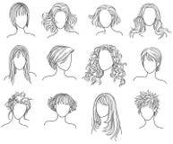 Frisuren vektor abbildung