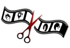 Frisuren auf dem Filmband Lizenzfreies Stockfoto