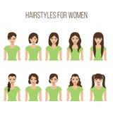 Frisuren für Frauen Lizenzfreie Stockbilder