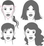 Frisuren für dreieckiges Gesicht Stockbild