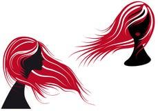 frisyrkvinna royaltyfri illustrationer