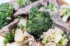 Fritada da agitação da carne e dos brócolis Imagem de Stock Royalty Free