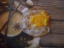 Fritada del huevo del desayuno Fotos de archivo libres de regalías
