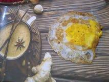Fritada del huevo del desayuno imagen de archivo libre de regalías