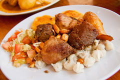 Fritada, fried pork, typical ecuadorian dish Stock Images