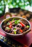 Fritada india de la carne de vaca Fotos de archivo libres de regalías