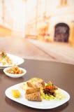 Fritada smażył wieprzowiny ecuadorian tradycyjnego jedzenie Fotografia Royalty Free