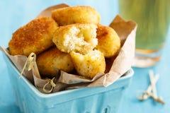 Fritadas da batata com bacalhau Imagem de Stock Royalty Free