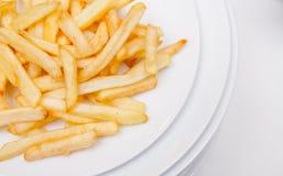 Fritadas das batatas na placa Imagem de Stock Royalty Free