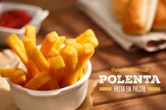Fritadas del Polenta Fotografía de archivo libre de regalías