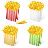 Fritadas do francês em um empacotamento listrado multi-colored Fotografia de Stock
