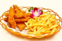 Fritadas do francês na cesta Foto de Stock