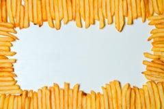 Fritadas do francês no fundo branco Imagens de Stock