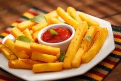Fritadas do Polenta Foto de Stock