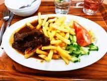 Fritadas e carne de Ummy Fotografia de Stock Royalty Free