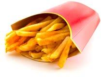 Fritadas francesas gordurosas salgados da liberdade fotografia de stock