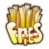 Fritadas frescas del icono Ejemplo del vector de las etiquetas engomadas aisladas Foto de archivo
