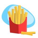 Fritadas fritas en un bolso de los alimentos de preparación rápida Fotografía de archivo libre de regalías