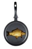 Fritando peixes fotos de stock royalty free