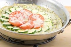 Fritata do Zucchini Imagens de Stock Royalty Free