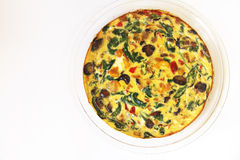 Fritatta végétal rôti Photo stock