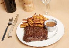 Frite 1 della bistecca Fotografie Stock Libere da Diritti
